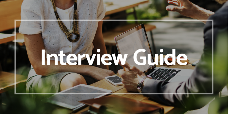 Interview Guide with prospective client and hiring manager